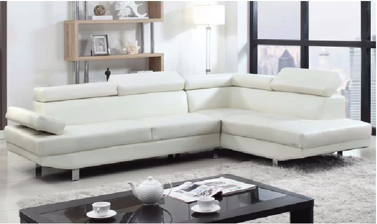 Avalanche White Sectional Sofa