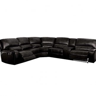 Sectional, Black, Reclining